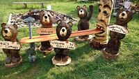 Chainsaw carving wood art furniture