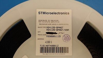 10 Pcs M24128-bmn6t St Micro 16kx8 I2c2-wire Serial Eeprom Soic 8pin