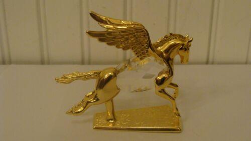 Manon 1984 Gold Plated & Crystal Miniature Pegasus Figurine