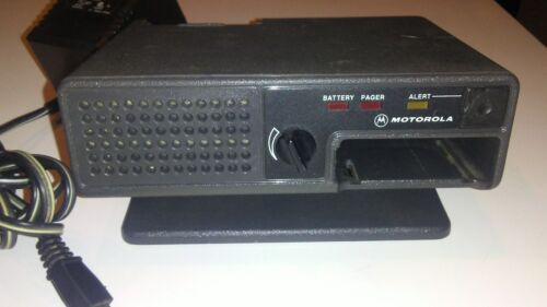 Motorola Minitor Amplified Charger NRN4985A and Power Supply NRN4967A (Used)