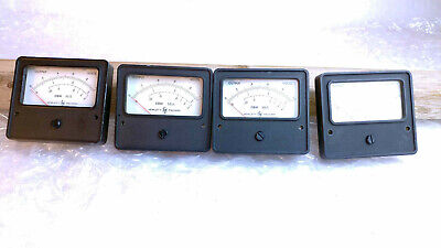 Hewlett Packard Dbm 50 Ohm Analog Panel Meter Display 100ua Full Scale 1 Volt