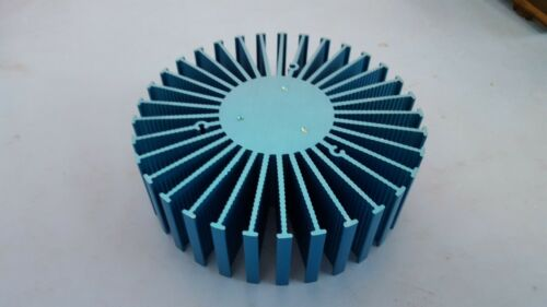 "Heatsink, Round, Power Led, 6"" x 1.5"", Blue Color"