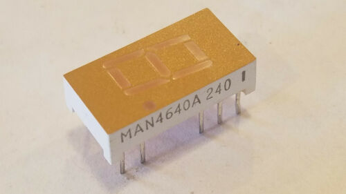 "ON Semiconductor MAN4640A, LED 7 Segment Display, Orange 630nm, 0.4"" (10 Pieces)"