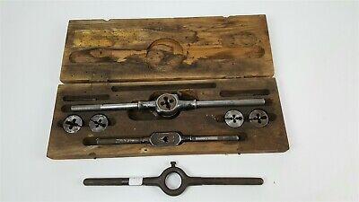 Vintage Greenfield OK tap and die set in case - 5/16 7/16 1/4 3/8 1/2 + bonus