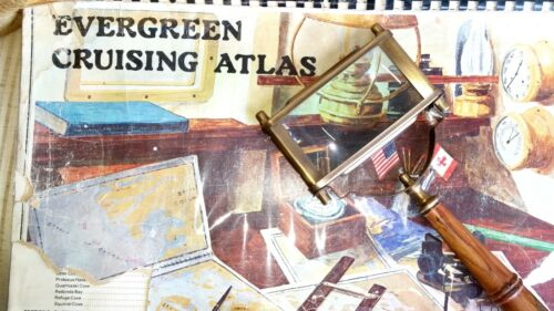Antique Nautical Map Magnifying Glass