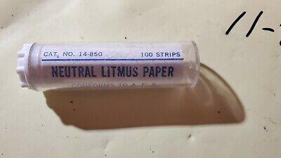 Fisherprecision Scientific Neutral Litmus Ph Test Paper Indicator 100 Strips Ph