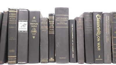 5 vintage/old/antique books for decoration/decor - Black Color
