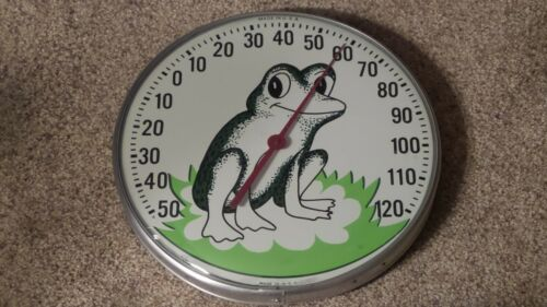 Vintage Original Jumbo Dial FROG Thermometer The Ohio Thermometer Co Made In USA