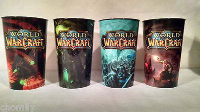 World of Warcraft Limited Edition Collector Cups Set of 4 - 32oz WOW - Brand New