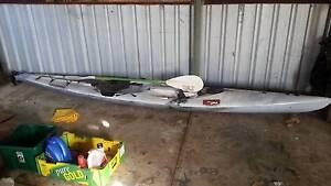 Long Kayak with rudder and paddle - ok condition = URGENT SALE Mandurah Mandurah Area Preview