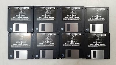 """Computer Games - Mortal Kombat II Midway Acclaim Entertainment Floppy Disk DOS 3.5"""" Video Game"""