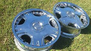 "18"" CHROME DOLCE RIMS PAIR 5 STUD 5X112 MERCEDES AUDI BMW VW Kallangur Pine Rivers Area Preview"