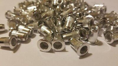 100 Pcs 10-32 Aluminum Flange Nutserts Rivet Nut Rivnut Nutsert