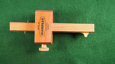 ***VERY GOOD***  Marples Brass and Wood Marking Gauge Scriber
