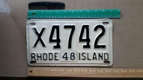 License Plate, Rhode Island, 1948, 4742