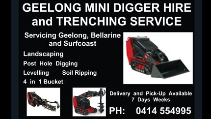 Mini Digger Hire...    Geelong Mini Digger and Trenching Hire Geelong 3220 Geelong City Preview