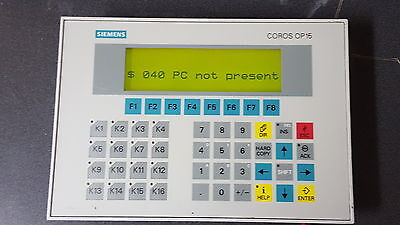 Siemens 6av3515-1ma20 Operator Interface Panel Hmi Op15-c1 Coros