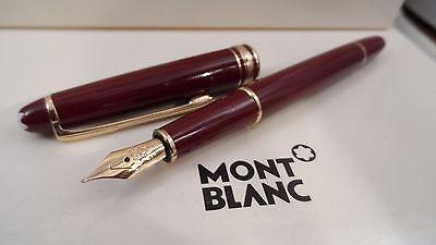 Montblanc Classique Meisterstuck Fountain Bordeaux Bordeaux Gold Nib 14k 144R