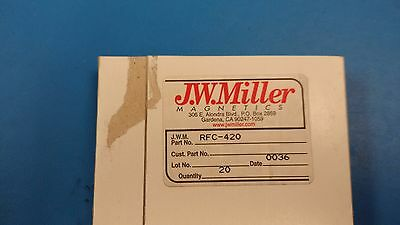 2 Pcs Rfc-420 Jw Miller Frequency Selective R.f. Choke .22uh Freq. Mc 325-500