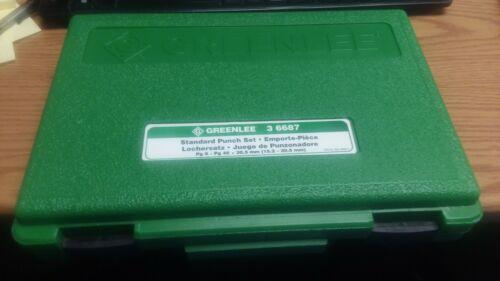 Greenlee 36687 Punch Set-STD PG9-PG48