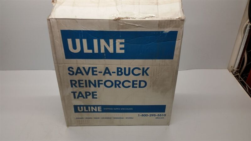 Uline S-7839 Reinforced Tape Open Box 8 Rolls