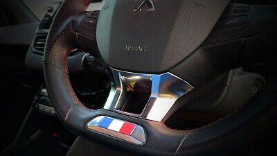 Peugeot 208 Renault Citroen French Flag steering wheel gel domed badge.