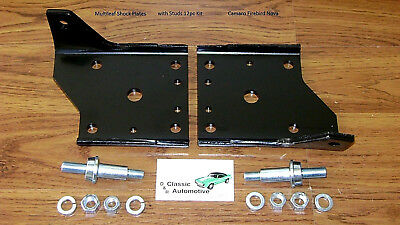 Multi Leaf Spring Shock Plate Kit w/ Studs 12pc Camaro Firebird Nova plates