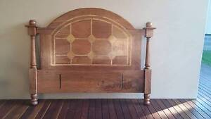 Stunning fruitwood inlaid queen size bedhead Glenwood Blacktown Area Preview