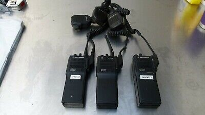 Lot Of 3 Motorola Mts2000 Flashport Fm Radio H01sdd9pw1bn W Battery Mic 2