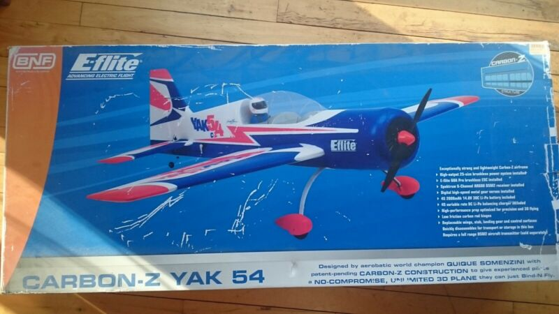 eflite carbon z yak 54 rc airplane E-flite euc BNF