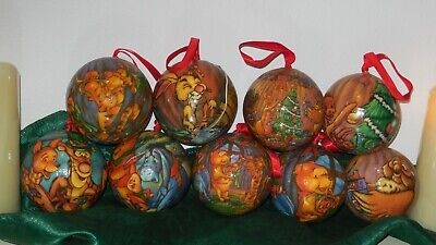 Vintage Rare Papermache Winnie The Pooh Christmas Ornament Balls Winnie The Pooh Ball