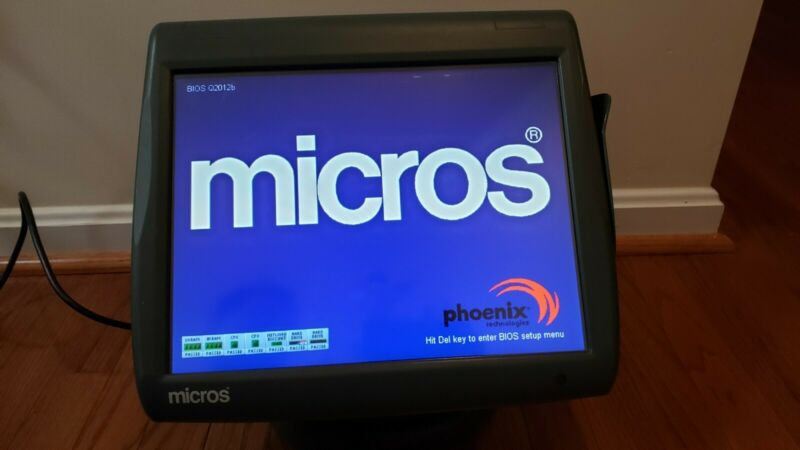 Micros Workstation 5A WS5A POS Terminal 400814-101 W/Stand - good screen