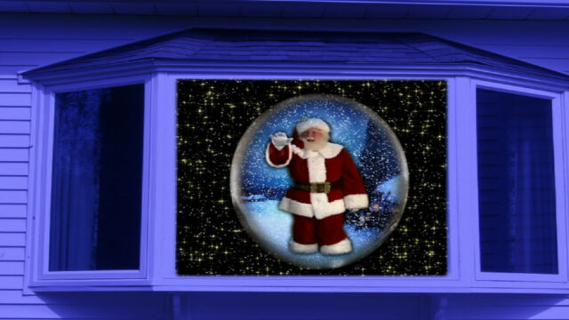 Virtual Snow Globes In Motion Window Dvd Projection Video