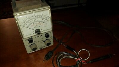 Heathkit Vtvm Vintage Vacuum Tube Volt Meter Model Im-18 With Probe