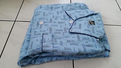 TREND Hausanzug Schlafanzug Pyjama Nachtwäsche Geometrisch Flanell Gr.50 NEU