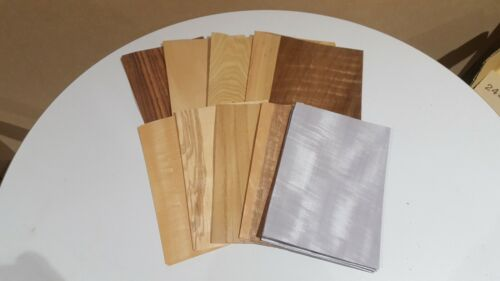 Wood+Veneer+Sample+Pack+-+10+PIECES+-+220mm+x+150mm+for+marquetry+-+Pack+80