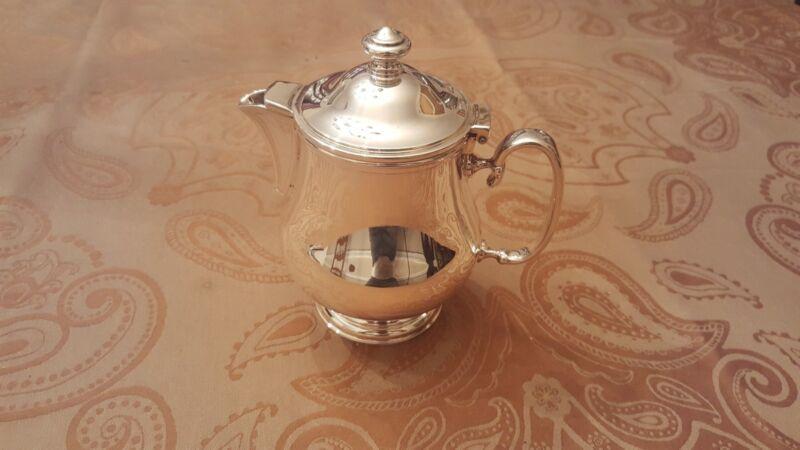 Christofle Neptune Silverplate Tea Pot 12 oz, h 6 in.