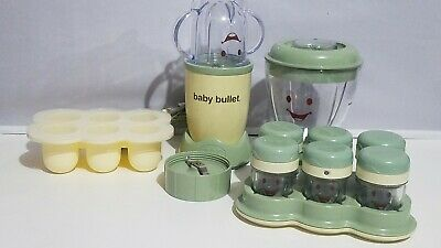 Magic Baby Bullet Electric Food Blender Processor System Accessories Storage