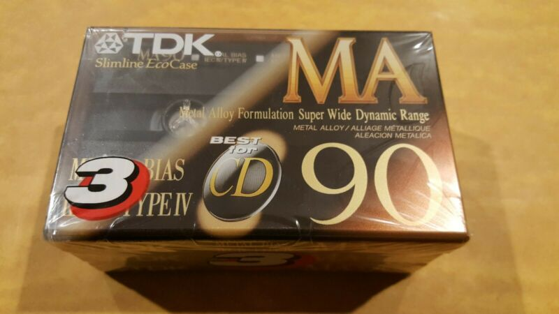 3 TDK MA90 MA 90 Type IV Metal Blank Cassette Tapes New/Sealed Made in Japan