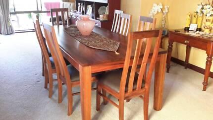 Tasmanian Blackwood solid timber Dining suite