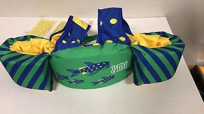 New Speedo Safe Splasher ~ 30-50 lbs. - Speedo Vest ~ Green Dolphin Swim Trainer