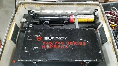 Burndy Y46c 10000psi Hypress Crimp Tool With Accessories Read
