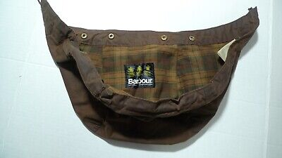BARBOUR-  A199  WAXED COTTON HOOD- RUSTIC BROWN-OLDER MODEL- MADE IN UK- LARGE