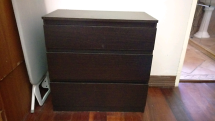 Three set drawers