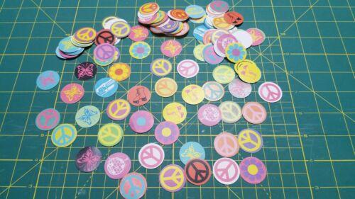 150 Craft Bottle Cap Hippie Themes Background inserts