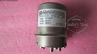 used ducommun 5IT2G24 SP5T DC-18GHz 450W 28V SMA RF microwave coaxial switch