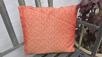 Cushion cover in woven orange with red fabric silky red back 16x15 inch  (Silky Red Cushion Cover)