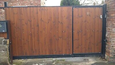 AUTOMATED Driveway  SLIDING GATE 12FT / 6FT Side gate integrated