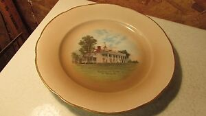 Antique Washington's Home Mt. Vernon China Plate Tatler