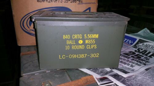 Ammo Can M2A1 US Military  5.56 Markings        Grade A